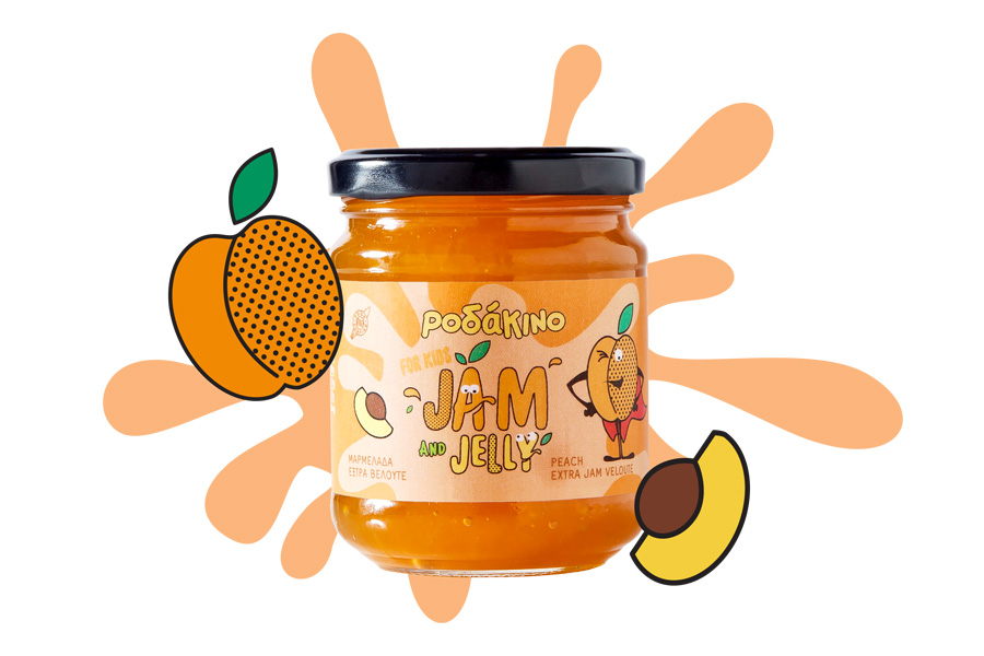 Peach Extra Jam for Kids