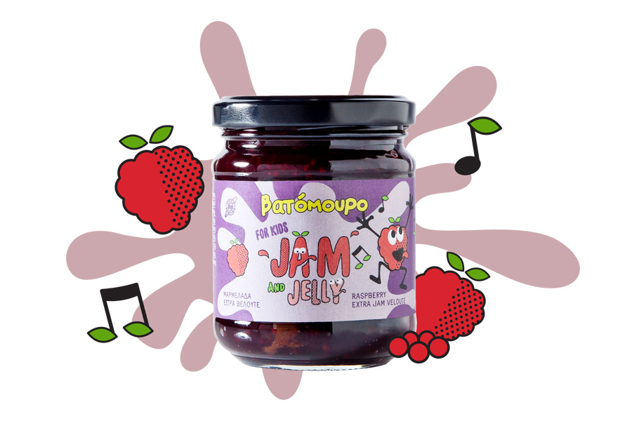 Raspberry Extra Jam for Kids